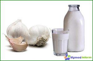 milk with garlic against giardiasis